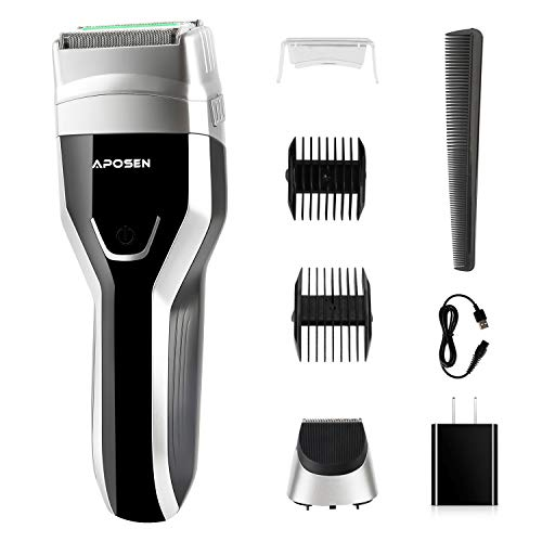 APOSEN Electric Foil Shaver for Men LED Display USB Rechargeable G5 Electric Razor Wet amp Dry IPX7 100% Waterproof Cordless Foil Razor Black
