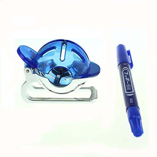 Crestgolf Golfball-Markierer / Golfball-Schablone und Stift, blau, Kunststoff, 1Stück