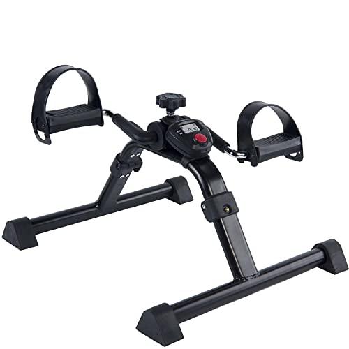 Vaunn - Pedales médicos plegables para ejercicio, con pantalla electrónica, para piernas y brazos (totalmente montado, no requiere herramientas)