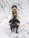Modelo De Personaje Luffy Bull Riding Statue Red Black Model Doll 12Cm-Ropa Negra Modelo De Personaje De Anime Modelo Decoración Arte Regalos Creativo Decoración Del Hogar Pvc Colección Modelo Jugue