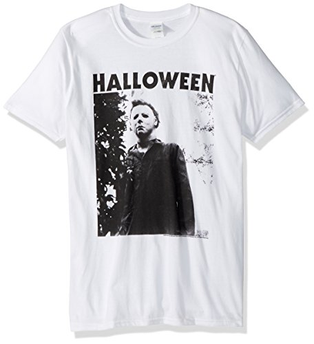 American Classics Unisex Tall Halloween The Movie Watching Big Adult Short Sleeve T-Shirt, White, X-Large