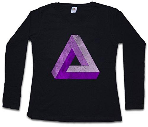 Urban Backwoods Penrose Logo Sign V Damen Langarm T-Shirt Schwarz Größe S
