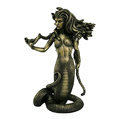 Pacific Giftware The Temptation of Medusa Collectible Figurine in Faux Antique Gold Finish 8 Inch Tall
