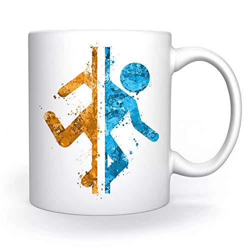 Portal Im Und aus Tasse Weiß Für Kaffee Tee Cappuccino Kakao Mug White Coffee Tea Cacoa