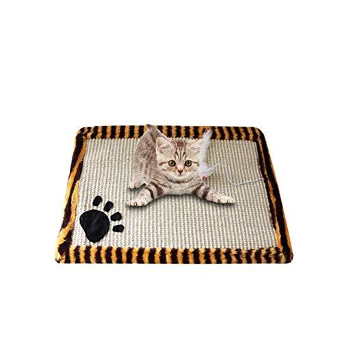 iBaste Kratzmatte für Katzen Katzenteppich aus sisal Rutschhemmend 45cmx30cm Bissfester Scratcher