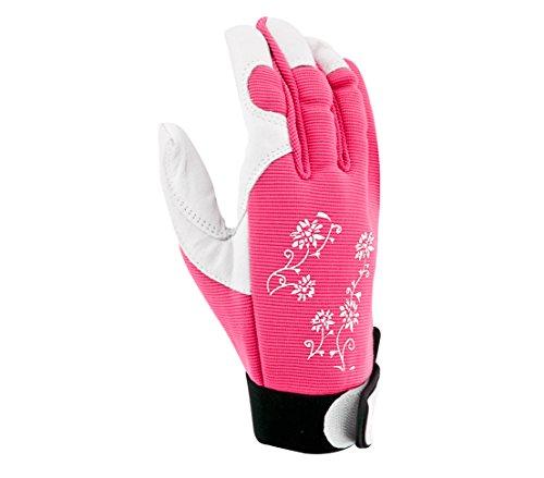 Dehner Gartenhandschuh Jardy, Größe7/S, Leder, pink