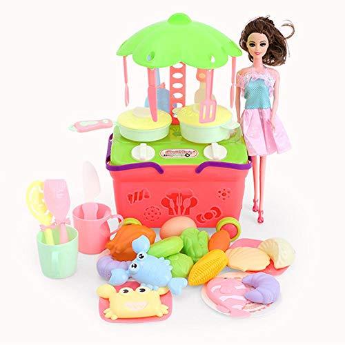 Juego de Cocina, Juguete de Cocina Colorido, Juego de Accesorios de Cocina, Juguete de vajilla, para niñas, niños, niños