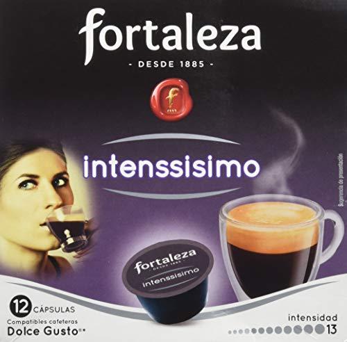 Café FORTALEZA - Cápsulas de Café Intenssisimo Compatibles con Dolce Gusto - Pack 4 x 12 - Total 48 cápsulas