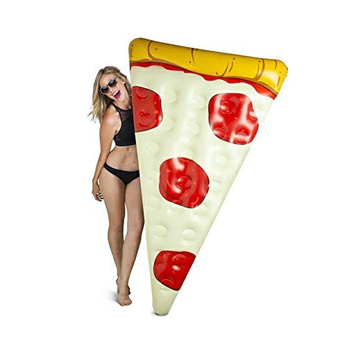 San Qing Rangée Flottante pour Adultes de Piscine de Pizza gigantesque Morceau de Pizza Gonflable Anneau de Natation de Flotteur Jouet Aquatique lit de flottement Chaise de Loisirs,71\