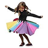 虹色 カラフル チュチュスカート TUTU キッズ 子供用 ダンス衣装 かわいい ガールズ チュールスカート リボン付き 女の子 バレエドレス キッズ 舞台衣装 入園式 演奏会 ふんわり 1-8歳