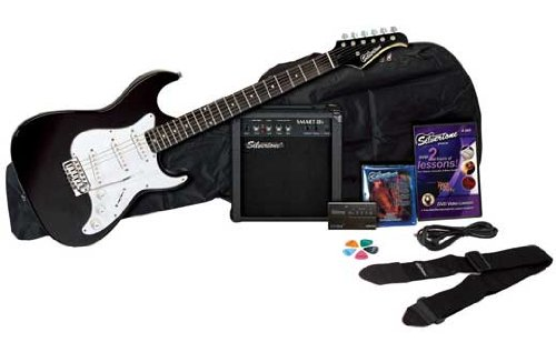 Cheap Silvertone Revolver SS11 Electric Guitar and Amp Pack Black Black Friday & Cyber Monday 2019