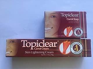 Topiclear Carrot Cream Skin Lightening Cream 1.76 oz. & Carrot Soap 3.0 oz
