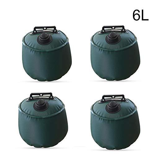 Dream-cool gazebo feet set of 4, gazebo base with water for stabilisation of the gazebo, foldable gazebo foot weights, water bag, 6L