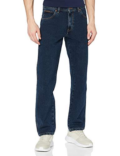 Wrangler Texas Contrast, Jeans con la Gamba Dritta, Uomo, Blu (Blue Black 001), 42W / 34L
