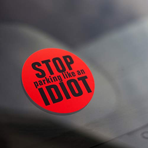 DM Novelties Stop Parking Like An Idiot Autoaufkleber - 24 Stickers