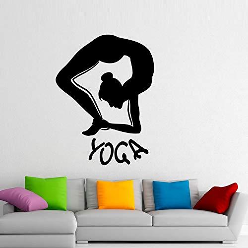yaonuli Yoga Fitness Muursticker meditatie filosofie Home Decoration Afneembare vinyl Muurtattoo woonkamer decoratie