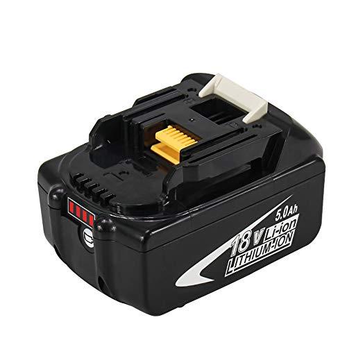 BL1850 18V 5.0Ah Lithium-ion Batterie de Remplacement pour Makita BL1850 BL1850B BL1860B BL1830 BL1840 BL1845 BL1835 LXT-400