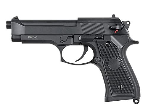 Pack Pistola Airsoft M9 Cyma-CM126S / Plástico de Alta Resistencia y Metal/Color Negro/Eléctrico (0,5 Julios) / Semiautomático/Lipo-Mossfet