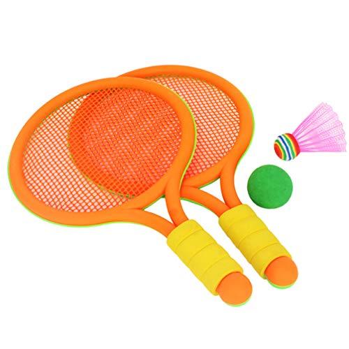 BESPORTBLE 1 Set Badmintonschläger Badminton Set Kinder Federball Schläger Kleinkind Spielen Schläger Spielzeug für Anfänger Kinder Baby Kindergarten