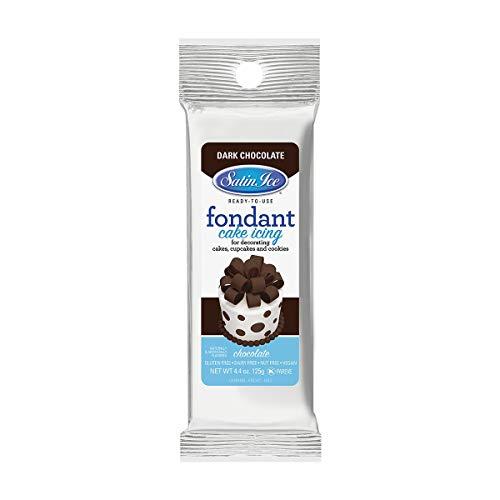 Satin Ice Dark Chocolate Fondant, 4.4 Ounces