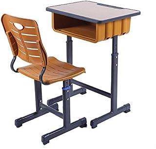 330f50553dda Juego de escritorio y silla para niños escritorio para estudiantes Altura  ajustable ergonómica Estación de trabajo
