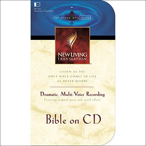 Bible on CD NLT audiobook cover art