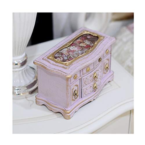 Cajas de música Cajas musicales Box antiguo de la vendimia de la música, creativo musical de la bailarina de la joyería caja, rectángulo cajas de recuerdo, Sala de decoración y regalos de cumpleaños d