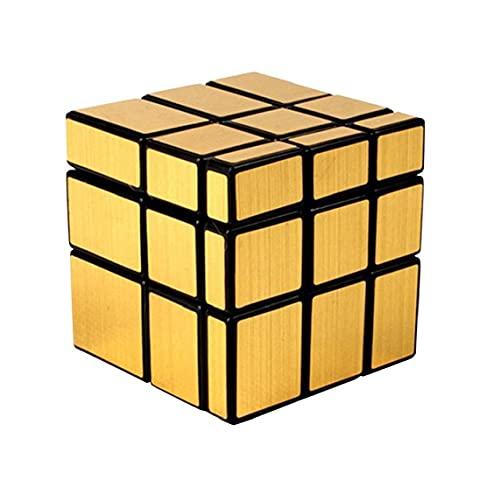 GGOOD La combinación mágica del Rompecabezas 3D Smooth Mirror Mirror Cube Oro Bloques del Rompecabezas Juguetes educativos Juguetes de Oro