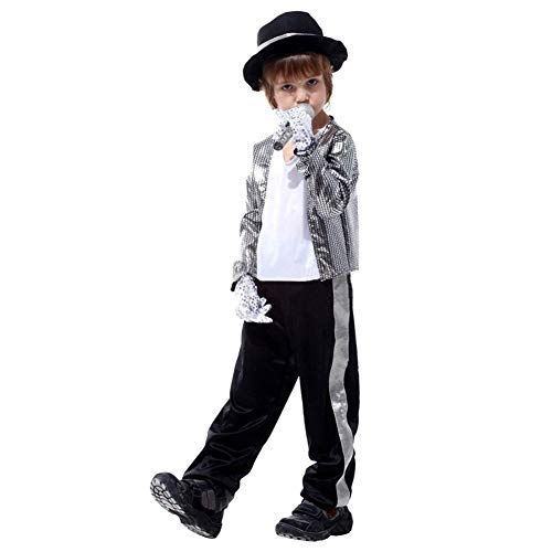 LOLANTA Disfraces de Halloween para niños Ropa de Michael Jackson ...