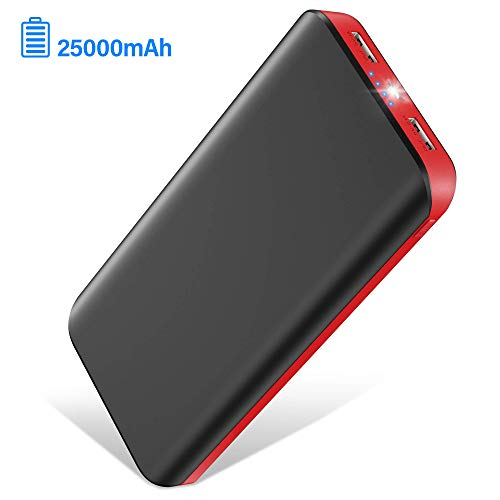 Portable Charger,Power Bank LBell Battery Pack 25000mAh Huge Capacity External Battery 2 USB Ports with LED Flashlight Portable Phone Charger for iPhone 11 XS X 8 Plus Samsung S10 Android Phone iPad