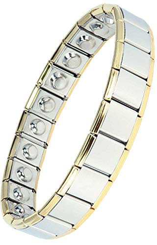 MPS Magnetic Bracelet Arthritis Pain Relief Expanding No Clasp Magnet Therapy Wristband for Men