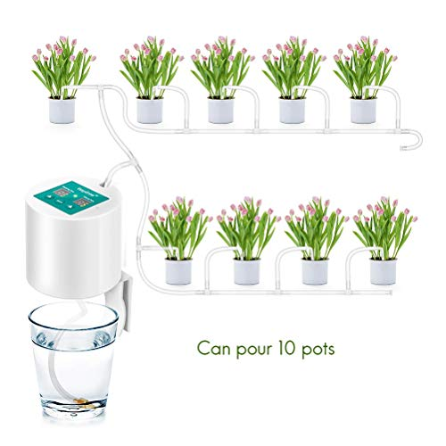 Comtervi - Sistema de riego automático, sistema de riego de vacaciones, kit con manguera para macetas, terrazas, jardín o plantas en maceta, dispositivo de riego automático