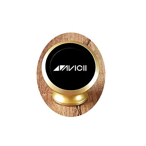 Collana con ciondolo a forma di dio Avicii con logo Avicii gioielli DJ Tim Bergling in vetro Cabochon catena collana Avicii fan regalo magnetico supporto per telefono auto