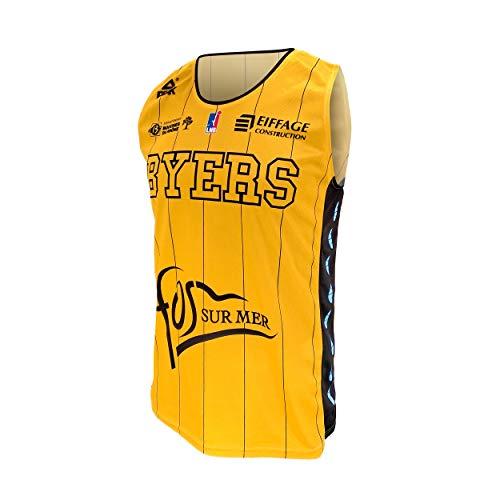 FOS Provence Basket Fos Provence - Camiseta Oficial de Baloncesto para niño (2019-2020), Niño, Maillot_Dom_FOS, Amarillo, FR : XXS (Taille Fabricant : 8 ANS)