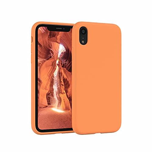 ESONG Funda para Xiaomi Mi 11 Pro, Protección de la Pantalla y la Cámara, Carcasa Silicona Líquida Funda Protectora Fina Parachoques Prueba de Golpes Suave Caso para Xiaomi Mi 11 Pro-Naranja