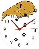 Reloj de pared grande Reloj de cocina Reloj de pared Divertido perro durmiendo Reloj de pared redondo Cachorro Take Paw...