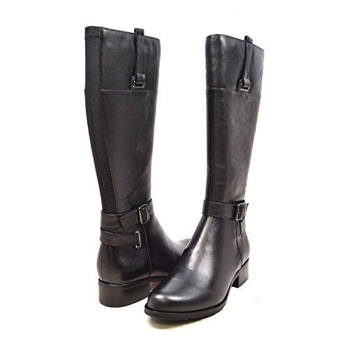 SoleMani Gabi 13' Slim Calf Women's Black Leather Boot 8.5