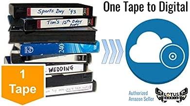 Lotus Media Video Tape Transfer Service, Digitization to MP4 (VHS, VHS-C, Hi8, Video 8, Digital8, 8mm, MiniDV, U-Matic, Beta, Audio) - New Customer Offer