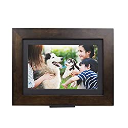 PhotoShare Friends and Family Smart Frame Digital Photo Frame, 1-5 Day Shipping, Send Pics from Phone to Frame, WiFi, 8 GB, Holds Over 5,000 Photos, HD, 1080P, iOS, Android (10.1, Espresso)