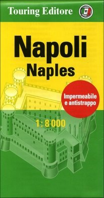 Neapel / Napoli / Naples (Kampanien) Stadtplan 1:8.000, wasser- und reißfest, handliches Taschenformat, TCI (Touring Club Italiano)