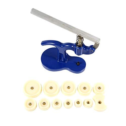 Gearmax Set Pressa Orologio 13 Pezzo Professionale/Pressa Retro Orologio/Chiudi Cassa Posteriore Orologio, Viene con 12 Stampi