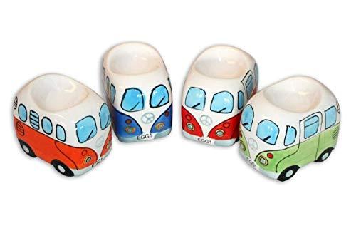 Camper Bus 4-TLG. Eierbecherset aus Keramik in 4