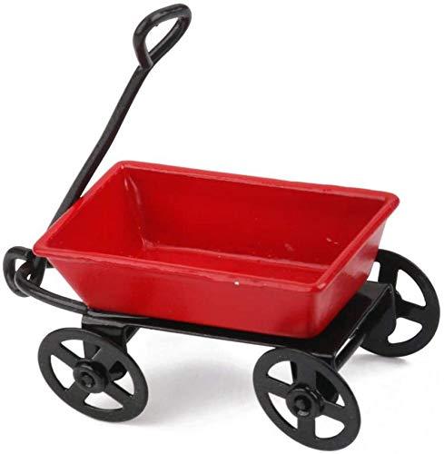1/12 modèle de Chariot de Traction en métal Miniature de Maison de poupée pour Accessoire de Jardin extérieur