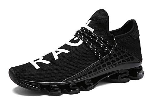 XIANV Neue Freizeitschuhe Für Männer Mode Licht Atmungsaktive Billige Lace-up Männliche Schuhe Super Licht Sneaker (46 EU, schwarz)