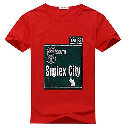 Suplex City South Herren Fashion T-Shirt Gr. L, rot