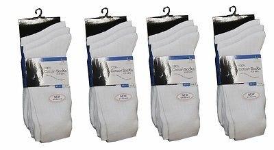 WOT 12Pares para Hombre Calcetines de algodón Calcetines de Color Blanco Suite Calcetines Cada día 6–11by