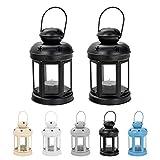 Nicola Spring 2 lanternes Porte-Bougies à Suspendre - métal/Style Vintage -...