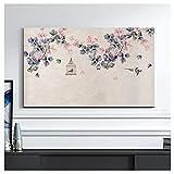 NAKAN Funda para Televisor Interior 19-65 Pulgadas Antipolvo Rústico Estampado de Flores de Pájaros Protector de Pantalla de TV para LED LCD OLED(Size:24in,Color:6)