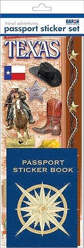 Passport Sticker Sets PP59125 Passport or Scrapbooking Sticker Set-Texas by Passport Sticker Sets