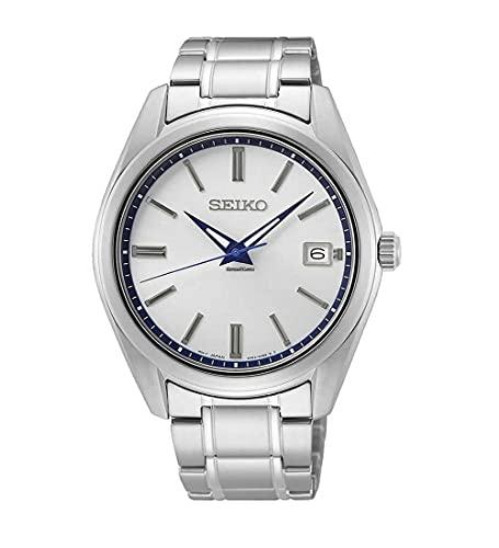 Seiko Herren Analog Quarz Uhr mit Edelstahl Armband SUR457P1
